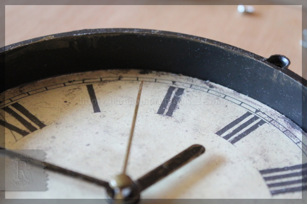 100円均一 100均 掛け時計 リメイク 時計 20150316