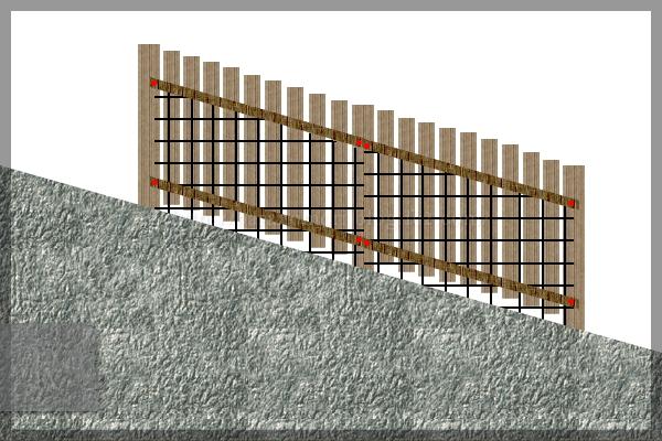 庭づくり 裏庭 板塀 計画 20150308