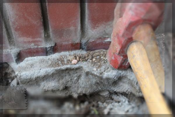 庭づくり DIY 階段下 花壇 20150209