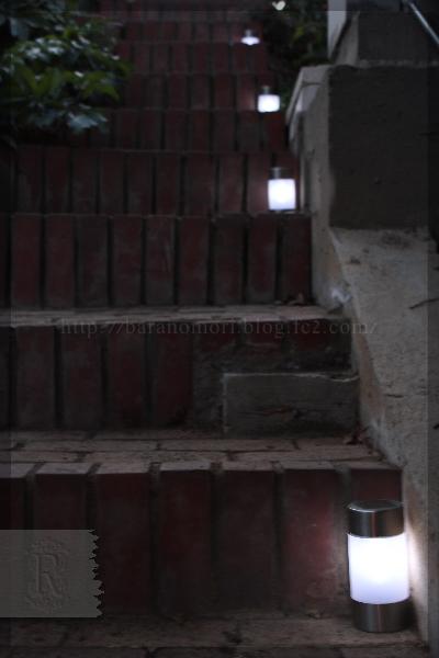 ソーラー ガーデンライト 階段 表階段 庭づくり