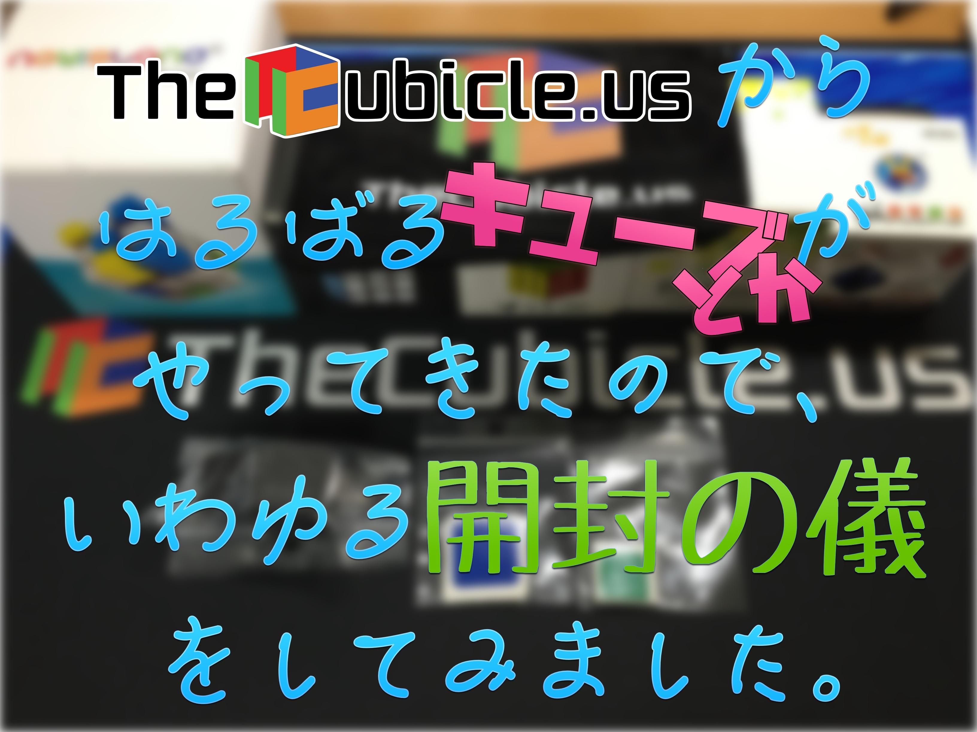 TheCubicleusからはるばるキューブとかがやってきたので、いわゆる開封の儀をしてみました。
