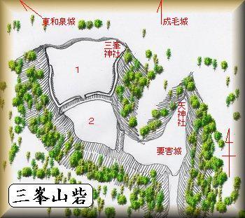 三峯山砦縄張り図