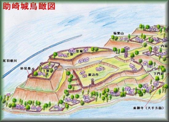 助崎城縄張り図