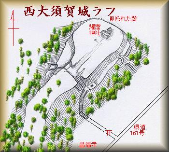 西大須賀城址縄張り図