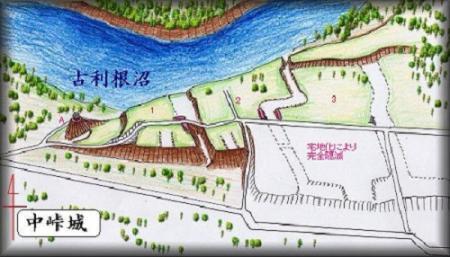 芝原城址縄張り図