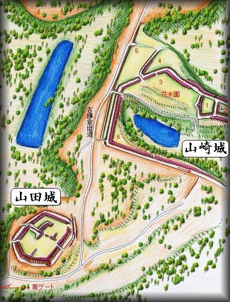 山田城址縄張り図