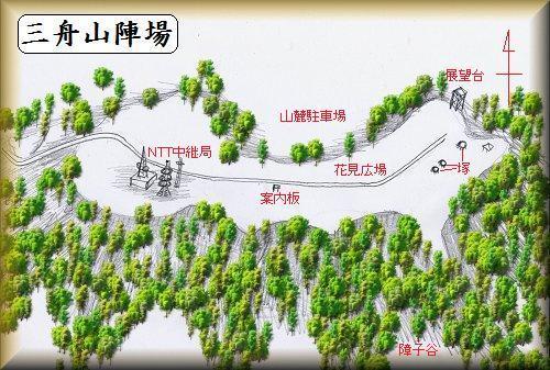 三舟山陣場縄張り図