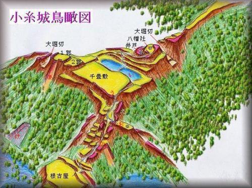 秋元城縄張り図