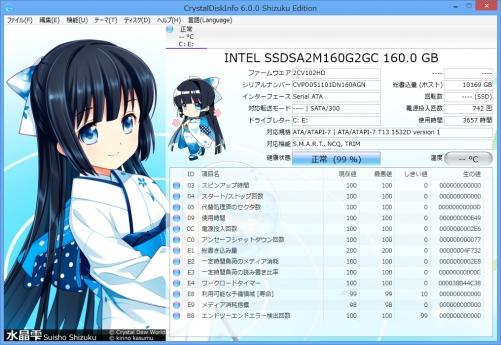 「CrystalDiskInfo 6 Shizuku Edition」