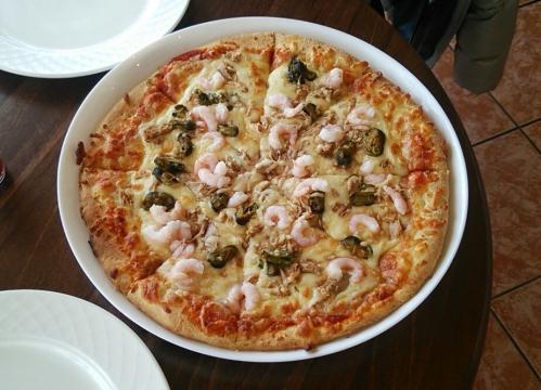 グルンダフィヨルズル 牡蠣ピザ