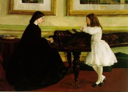 ホイッスラー - ピアノにて(ピアノに向かって)