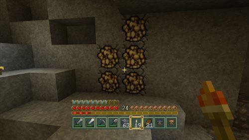 金鉱石発見