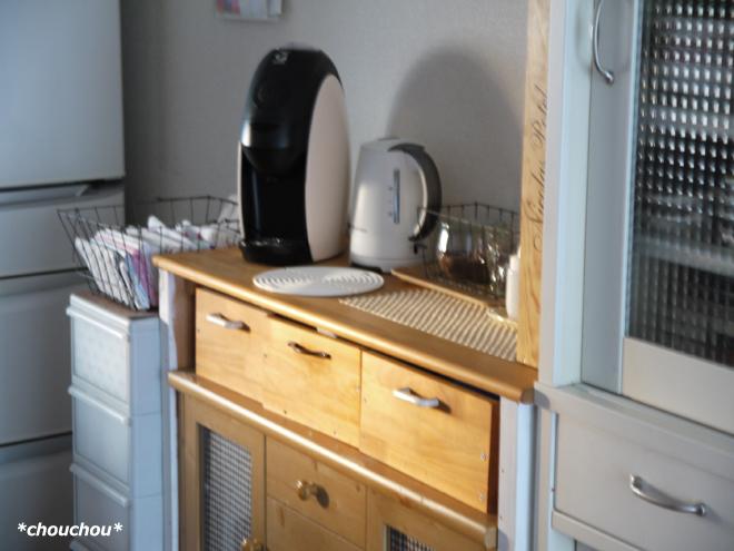 コーヒー棚 西日