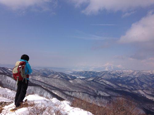 4磐梯山遠望