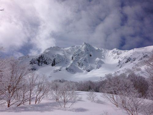 2磐梯山東壁