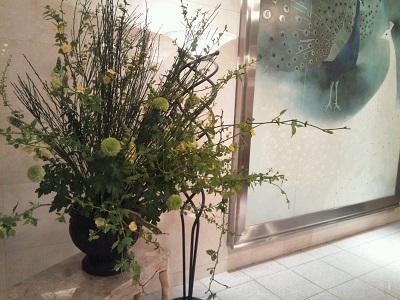 ロビー飾り花