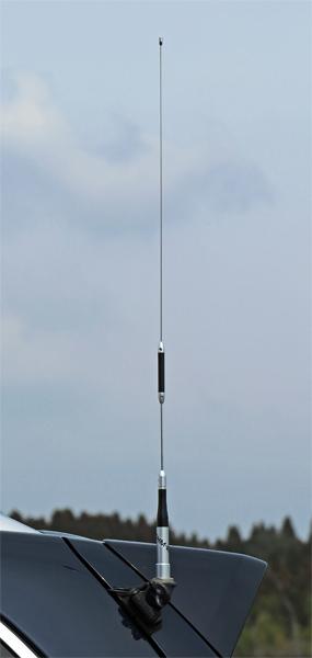 CQオームのプライベートブランド商品として人気、144/430MHz帯ノンラジアルモービルアンテナ、OHM-6800(SUPER FLYER)
