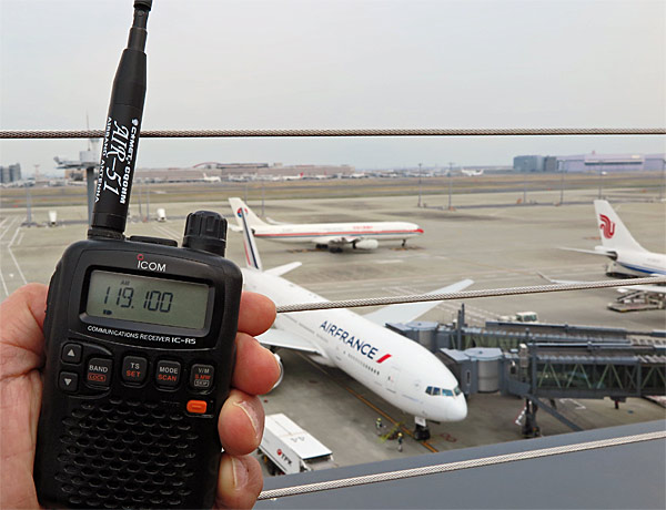 春はやっぱりエアバンド!! 広帯域受信機を持って空港に行くのも楽しい!!