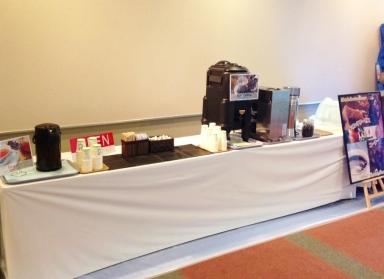 現地ミル挽きコーヒー ドリンクコーナー