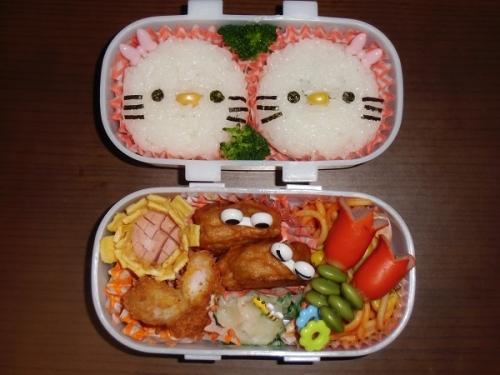 キャラ弁(キティちゃん)