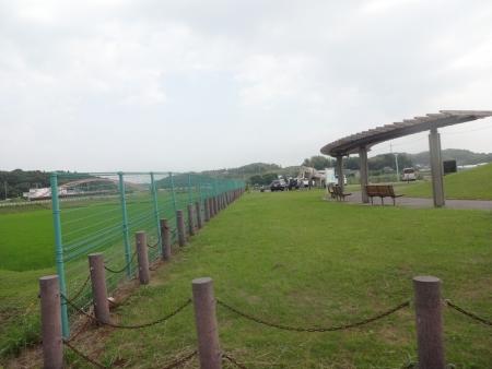 011双子公園、象さんのオブジェ、走りながら