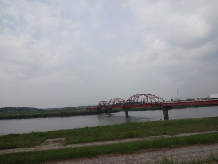 018長豊橋を渡り左岸へ