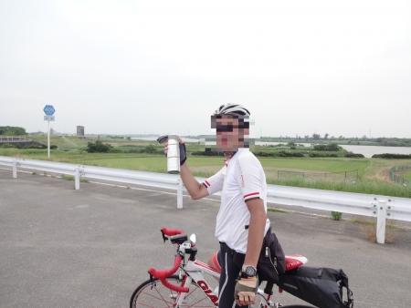 054長門川の印旛水門でTomyさんとお別れ、今日は案内有難うございました