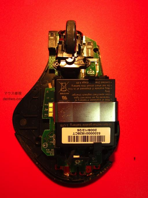 Logicoolマウス・MX-Rの分解後の画像です。Jan 20 2015IMG_0562