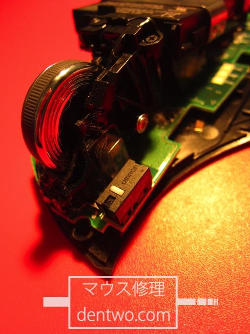 LogicoolMX-R(MXレボリューション)の分解画像です。Jan 28 2015IMG_0615