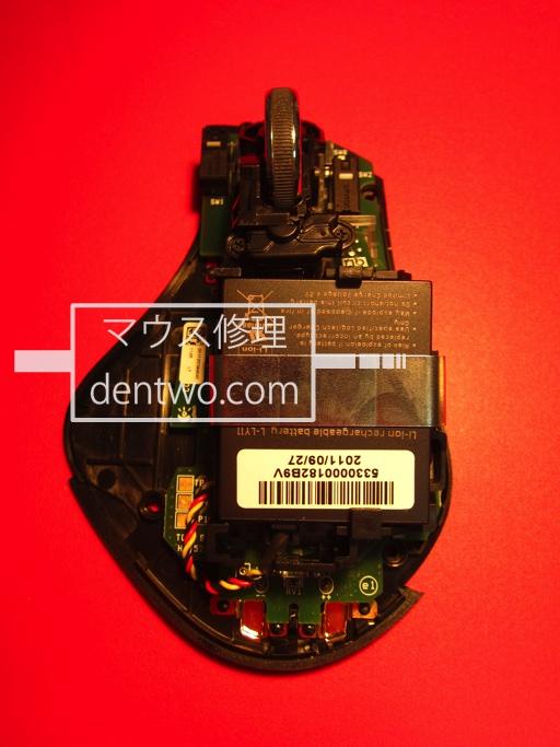 】Logicool製マウス・MX-R(MXレボリューション)のチャタリング修理、分解清掃後の画像です。Feb 11 2015IMG_0704