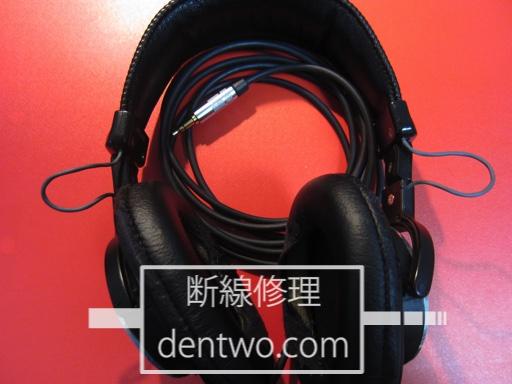 SONY製ヘッドホン・MDR-CD900STの内部ケーブルの断線を新品ケーブル交換で修理した画像です。Mar 17 2015IMG_0940