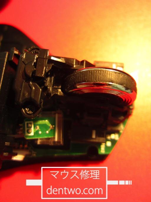 Logicool製マウス・MX-R(MX5500付属モデル)のホイール部分の画像です。Jun 03 2015IMG_0370