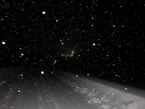 1月6日 午後11時30分ごろの飯綱東高原
