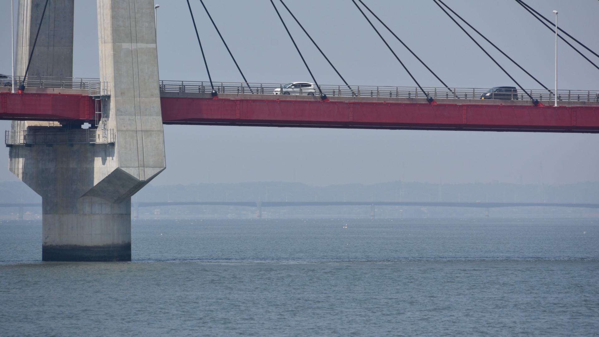 利根川の河口に架かる銚子大橋