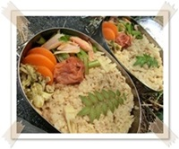 玄米筍ご飯弁当