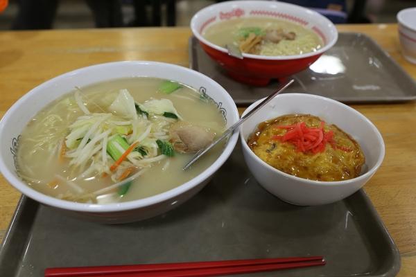 寿がきや 野菜あんかけラーメンと天津飯