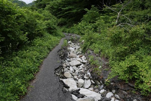 能郷白山 登山口までは荒れた林道3.5km。
