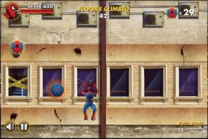 スパイダーマンのビル上りゲーム