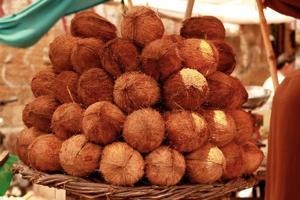 山積みココナッツ