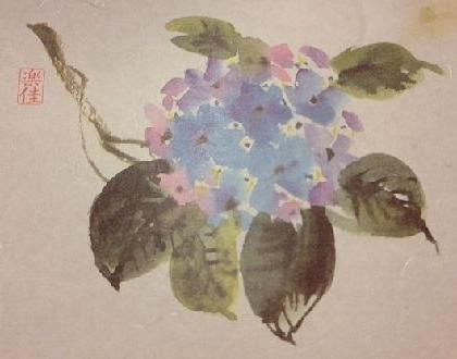 紫陽花マット