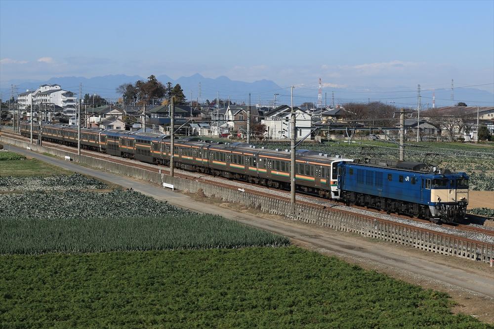 EF641031+211系A9編成+A10編成 2014 12/8