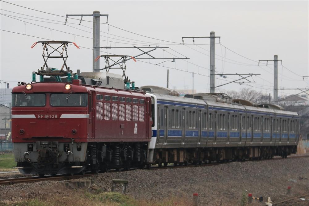 EF81139+415系 K527編成 2014 12/16