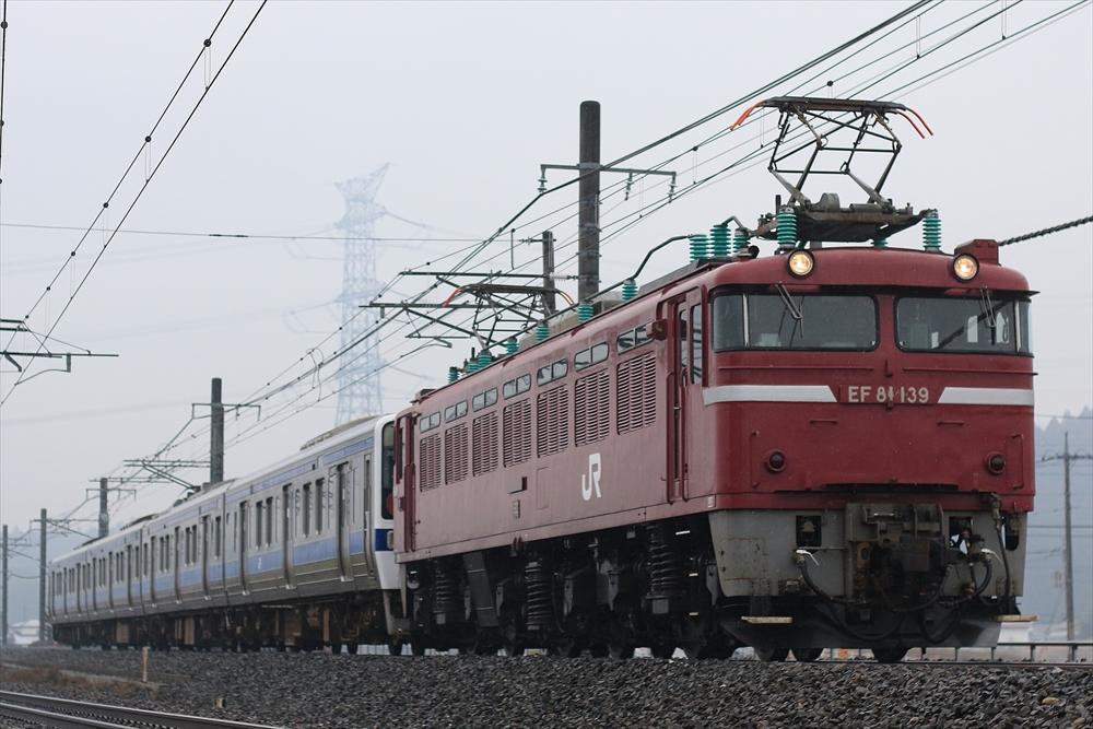 EF81139+415系 K527編成 2014 12/16 宇都宮線
