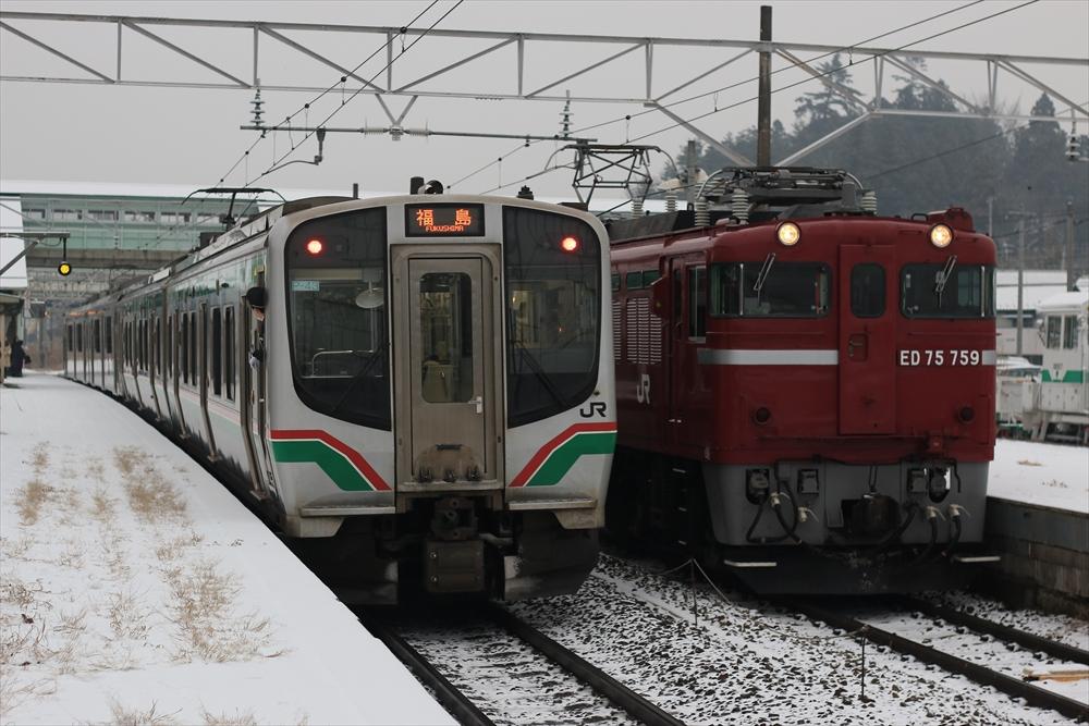 E721系との並び
