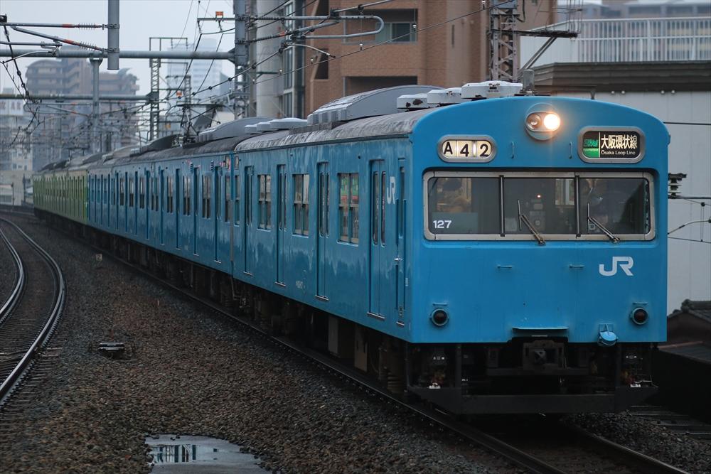103系 NS414編成+NS407編成 2014 12/29 8:09