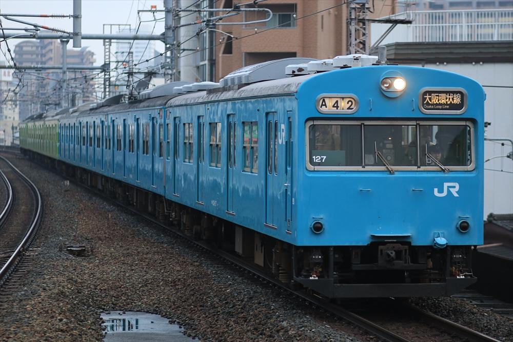 103系 NS414編成+NS407編成 2014 12/29 9:00