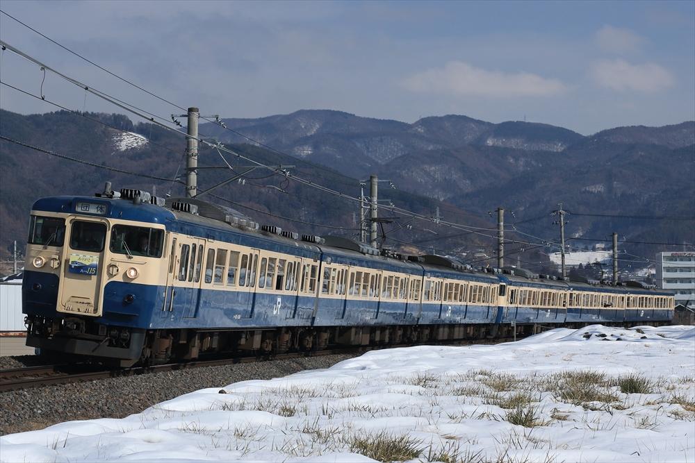 115系 M3編成+M9編成 2015 1/21