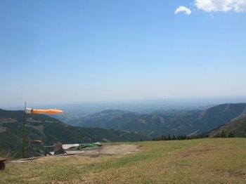パラグライダー滑走地