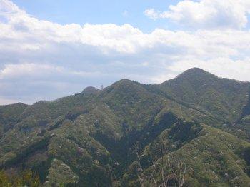 パステルカラーの山々