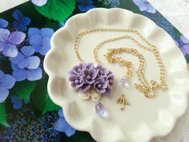紫陽花の雨粒添えNC2-1